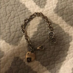 GUESS gold heart bracelet